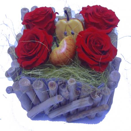 bouquet de fleurs stabilisées