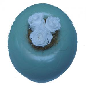 composition bulle verte en céramique