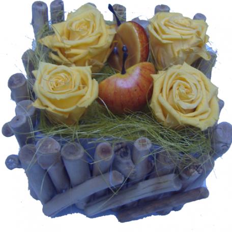 bouquet de roses stabilisées